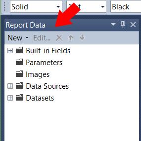 Cómo recuperar la pestaña de Report Data